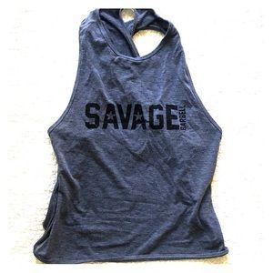 Savage Barbell crossback tank